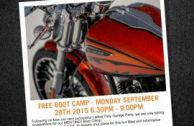 Harley Boot Camp - Men Only!