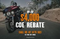 Get Your COE Rebate with Us!
