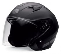 3/4 HELMET WITH RETRACTABLE SUN SHIELD MATTE