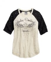 LACE ACCENT ELBOW TEE
