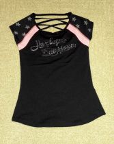 TEE-SCOOP BLACK,LACED,B