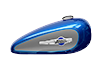 XL 1200C 1200 Custom - Two-Tone Superior Blue / Billet Silver
