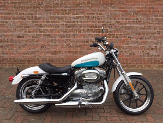 NEW Sportster XL883L Superlow 2017 Crushed Ice and Teal