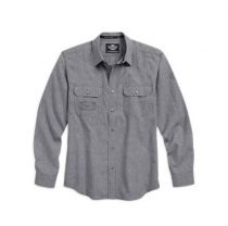 Harley-Davidson® Men's Textured Arched Yoke Shirt