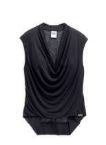 TOP-DRAPED FRONT,BLK
