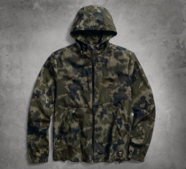 Harley-Davidson® Mens Slim Fit Skull Camo Lightweight Water Resistant Camouflage Casual Jacket