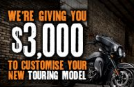 Get up to $3,000 on Your New Harley®!