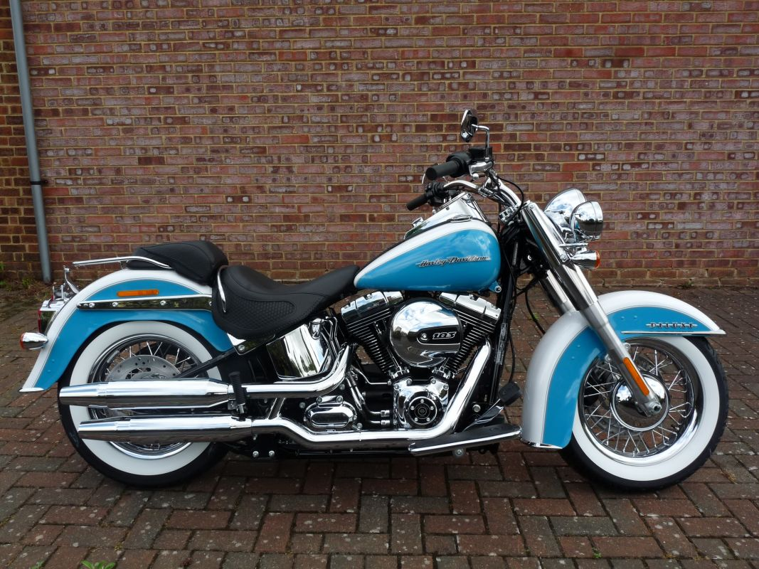 NEW FLSTN Softail Deluxe Two Tone