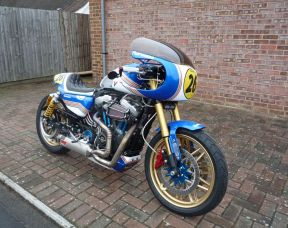 Custom XL1200CX Sportster Roadster Rothmans Cafe Racer
