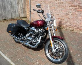 NEW XL1200T Sportster Superlow 1200 Two Tone Velocity Red / Mysterious Red