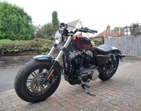 XL1200X Sportster Forty Eight 2017 Ex Demo 67 plate