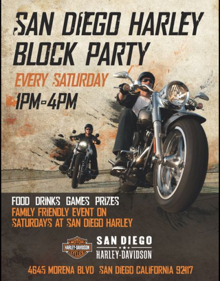 San Diego Harley Block Party Morena