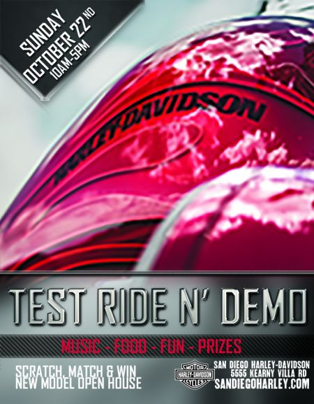 Test Ride N' Demo Kearny