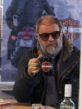 Борис Гребенщиков в Harley-Davidson Новосибирск