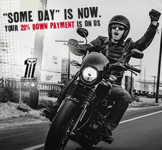 """Someday"" is now. Your 20% down payment is on us!"