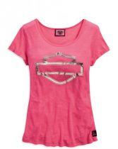 Pink Label Metallic Tee