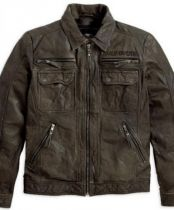 MENS RAMBLE BROWN LEATHER JACKET
