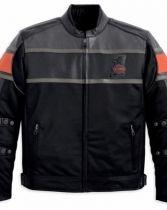 RUMBLE MESH WITH LEATHER ACCENTS JACKET