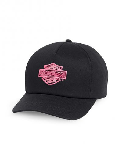 Pink Label Sequin Cap