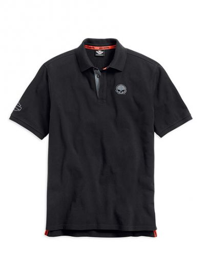 Burning Skull Polo Shirt