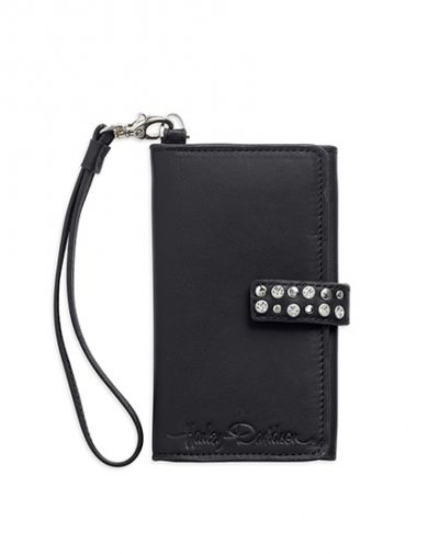 Smartphone Leather Wallet Lambskin leather with twill lining