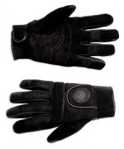 MEN'S SKULL FULL-FINGER MESH GLOVES