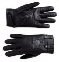 WOMEN'S SKULL FULL-FINGER LEATHER GLOVES