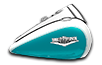 Road King<sup>®</sup> Classic - Two-Tone Crushed Ice Pearl / Frosted Teal Pearl