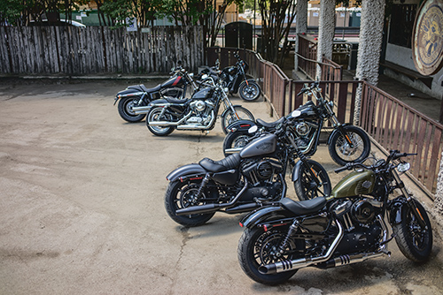 Six machines. One soul. Ladies and gentlemen, here is your 2016 Dark Custom motorcycles.