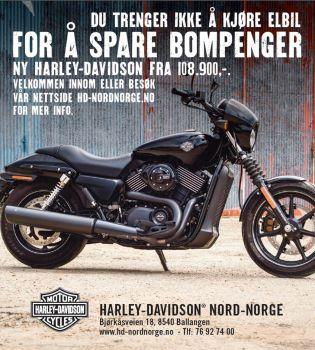 Ny Harley-Davidson fra 113900,-
