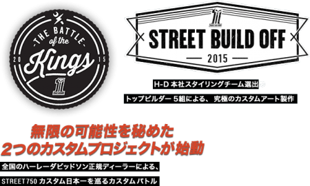 STREET 750 CUSTOM PROJECT『THE BATTLE OF THE KINGS』一次選考突破!!