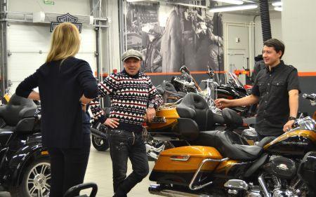 Гарик Сукачев в Harley-Davidson Новосибирск
