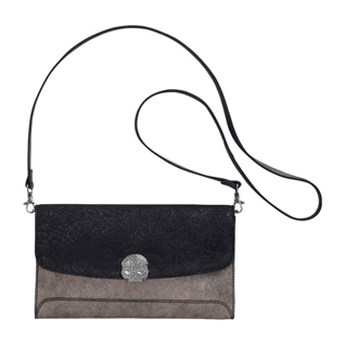 LACE CLUTCH WITH REMOVABLE CHAIN