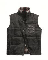 Quilted Vest with Plaid Lining