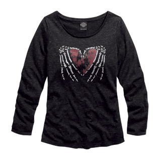 Skeleton Heart Long Sleeve Tee