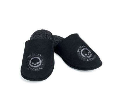 Men's Slip-On Skull Slippers