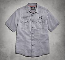 Wrinkle-Resistant Herringbone Shirt