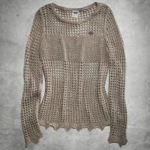 Open Knit Metallic Sweater