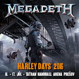 Megadeth vystúpi na Harley Days v Prešove