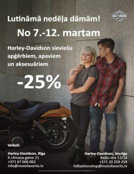 Harley-Davidson pavasara piedāvājums dāmām.