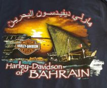 DEALER PRINT T-SHIRT. BACK PRINT BOAT&SUNSET