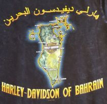 DEALER PRINT T-SHIRT. BACK PRINT BAHRAIN MAP