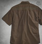 Tape Brown Short Sleeve Woven Shirt