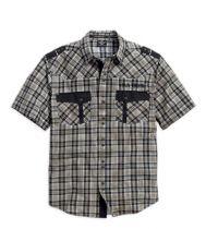 Harley-Davidson® Mens Willie G Skull Pistons Plaid Short Sleeve Woven Shirt