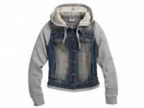 JACKET-DENIM,HOODED,TW