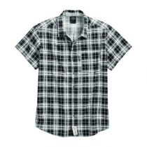 Printed Plaid Short Sleeve Shirt