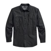 Coated Chambray Shirt
