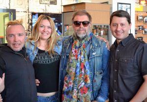 Борис Гребенщиков и Гарик Сукачев в Harley-Davidson Новосибирск