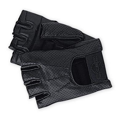 Perforated Fingerless Gloves Men