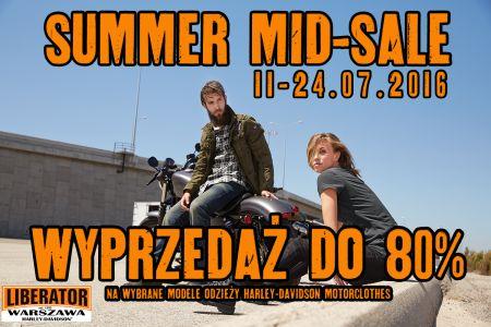 SUMMER MIDSALE - DO 80% RABATU NA WYBRANE MODELE ODZIEŻY 11-24.07.2016